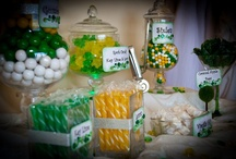 Green and Yellow Candy Buffet