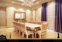 Dining Room Interior Design / بساطة ورقي في تصميم غرف الطعام على خلاف غرف المعيشة أو المطبخ التي قد يكون لها استخدامات متعددة فإن غرف الطعام يتوجب أن تمتاز بجمالها وبساطتها حيث تجتمع العائلة كلها بجو من الألفة   Algedra Interior Design 800 ALGEDRA 800 2543372 www.algedra.ae
