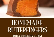 Butterfinger bars. / Candy