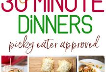 30 Minute Meals Recipes / Yummy, easy, family friendly 30 Minute Meals recipes to try.  Perfect dishes for family dinners, birthday parties, holiday celebrations or any day of the week!  Homemade is always more delicious and a great way to pass on the cooking bug while bonding with your kids over scrumptious food!