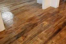"""Wood Plank / Staining and engraving concrete to look like wood plank creates a dramatic result. """"Is it wood or concrete?"""""""