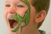 Facepaint ideas / Some creative face paint designs Become anything from your imagination with Face Paint. With Face Paint Colours available such as green, purple, red, blue, orange, white, yellow and more, the possibilities are endless on what you can create with these face paints