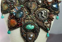 Bead Embroidered Statement Necklaces