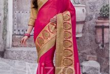 lace Work Sarees For Party Wear