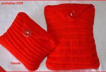 décos diverses tricot et crochet / décos diverses, pochettes, tableaux, etc......
