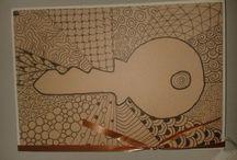 Zentangle door Esther / zelfgemaakte Zentangle projecten