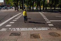 Madrid, te comería a versos. / Poesía en el asfalto de Madrid.