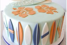 surfboard cakes