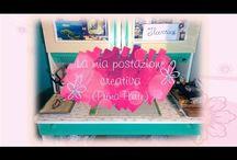 Postazione Creativa / Ecco la mia postazione creativa #postazione #creativa #craftroom #craft #room #fimo #polymerclay