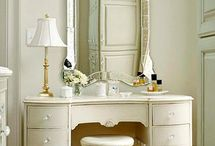 Dressing Tables  / Amazing dressing tables adorned with flowers of course.