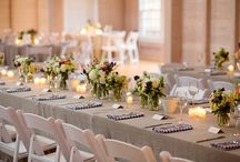 casual and rustic wedding table settings