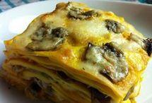lasagna al forno con zucca e funghi