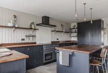 Contemporary Charcoal Kitchen