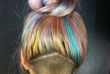 Hair Colors of the Rainbow / Rainbow inspired hair trends for 2015.