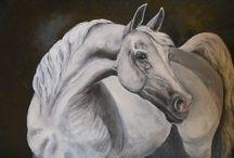 malování, koně, horse