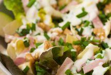 Salade endives noix comté jambon pommes