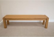 Wooden kitchen fitted benches / Wooden, hand made