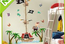 Decorating the pirate room