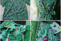 refashion shirt green & dots