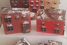 Мои мини-домики / Хенд-мейд домики из бросового материала