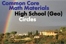CCHS (Geo): Circles / Common Core High School (Geometry): Circles. Great teaching resources that help students 1) Understand and apply theorems about circles. 2) Find arc lengths and areas of sectors of circles.