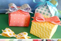 1-2-3 Punch Board / A board with projects made with or inspired by the 1-2-3 Punch Board which creates paper envelopes, bows, and boxes.