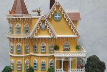 Quarter Scale MIniature Dollhouse, The Belladonna - Gothic Victorian House / 1/48 or Quarter Scale Miniature Dollhouse. Go to www.normanscountrycreek.com for more info.