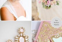 pink and gold weddings