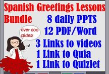 Just Prep During Your Prep Spanish Lessons / It is almost impossible to deliver an amazing lesson without prep work.  But you can open my lessons with minute to minute slides for your Spanish One class or French One class and just prep during your prep at school and not at home.