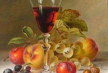 şarap ve meyve