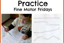 Preschool Writing/Fine Motor Ideas / Learning with our hands