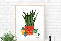 Decoration Végétale // Affiche botanique / #botanique #vegetale #affichevegetale #affichebotanique #afficheplante #vert #green