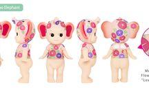 """Sonny Angel Artist """"Nippon Asagao"""" / 9ème série limitée Artist : 2 grandes figurines lapin et éléphant http://www.mamanfaitsescourses.com/sonnyangel-artist-274-1.html"""