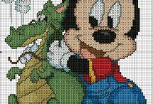 Disney Minnie,Micky usw