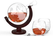 Globe Trotter Etched Globe Spirits Decanter