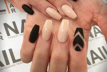 matt black nails