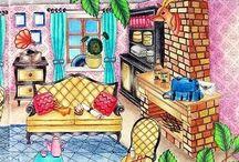 W krainie fantazji Fantasy dream Wonderland Amily Shen / W krainie fantazji Fantasy dream Amily Shen  coloring book for adult Wonderland