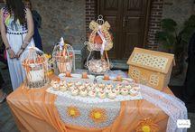 #orange vaftisi / Μια βάφτιση σε πορτοκαλί και λευκό από την Fairy Tales και την ΜeliSoula