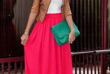Vestidos largos + Maxi faldas