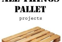 wooden pallets and boxes