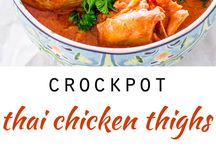 Crock pot / Thai chicken thighs