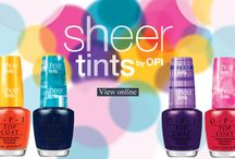 OPI Sheer Tints / Amazing tinted jelly top cats which can be worn solo or layered