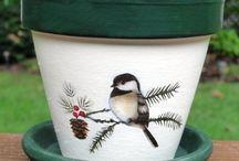 Art flower pots