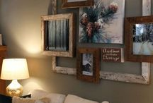 Rustic wall frames