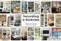 Home Decor: Books, Nooks, and Shelves / Beautiful bookshelves.  How to style your bookshelf in a practical and stylish way.