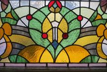 The beauty of glass / Stained glass, etched glass windows and doors.