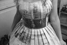 Sukienka z gazety krok po kroku