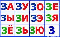 слоговые таблицы цветные