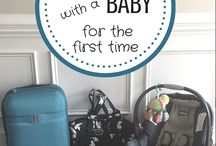 Traveling with Baby / Tips for parenting traveling with babies. #travelwithbaby #babytravel