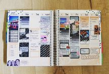 Erin Condren Vertical Planning / Our Erin Condren life planner layouts